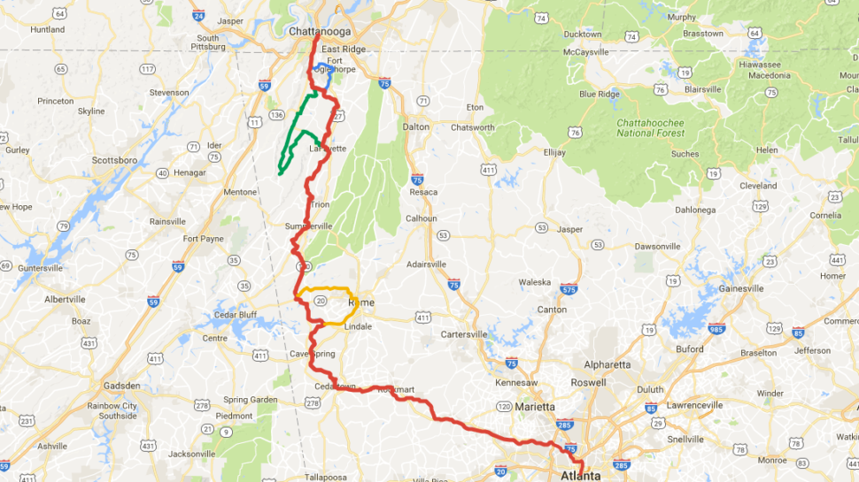 About 150 Cyclists To Ride New Route From Chattanooga To Atlanta