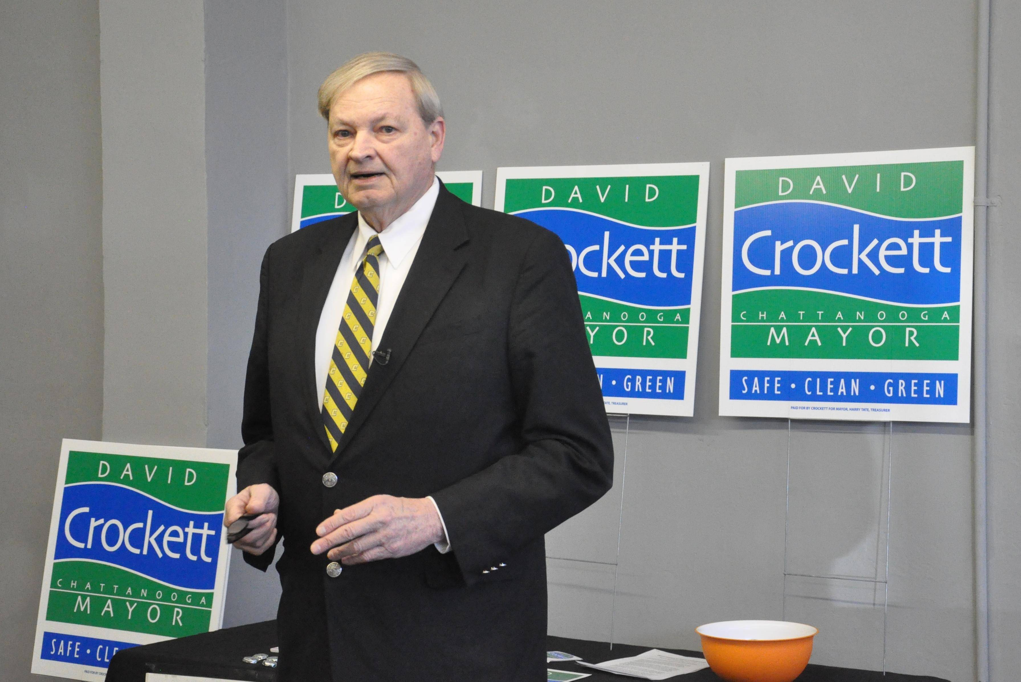 Mayoral candidate Crockett wants Chattanooga to have option
