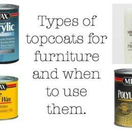 The DIY Designer: What kind of topcoat should I use and when